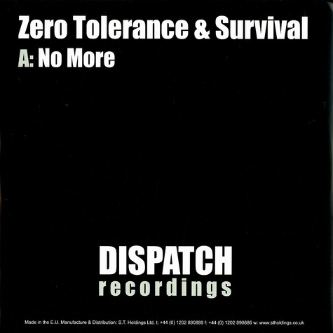 Zero Tolerance & Survival - No more