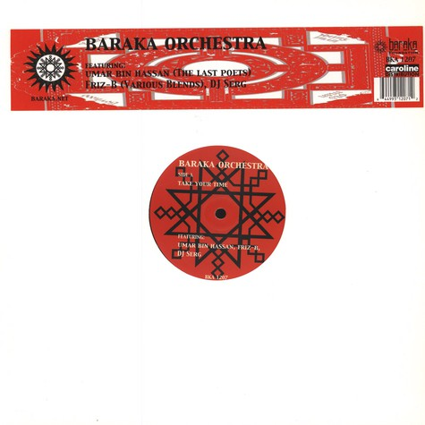 Baraka Orchestra - Take Your Time Feat. Umar Bin Hassan of The Last Poets, DJ Serg & Friz-B of Various Blends