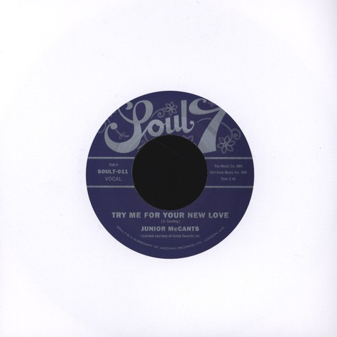 Junior McCants - Try Me for Your New Love