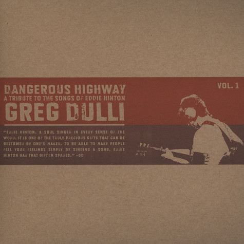 Greg Dulli - Dangerous Highway: A Tribute To The Songs Of Eddie Hinton
