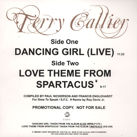 Terry Callier - Dancing Girl (Live)