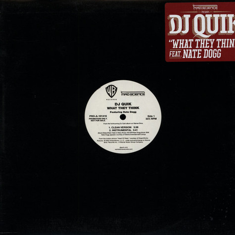 DJ Quik - What they think feat. Nate Dogg