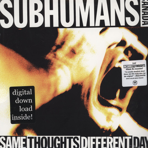 Subhumans - Same Thoughts Different Day