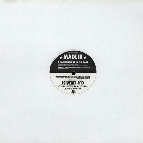 Cut Chemist / Madlib - Bunky's Pick / 6 Variations Of In The Rain