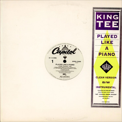 King Tee - Played Like A Piano