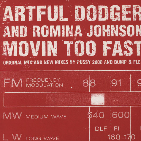 Artful Dodgers - Movin too fast feat. Romina Johnson