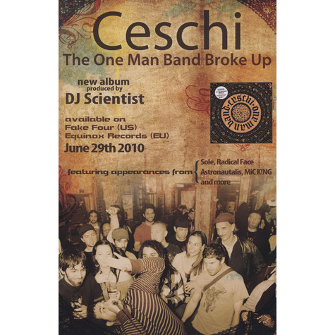 Ceschi - The One Man Band Broke Up Poster