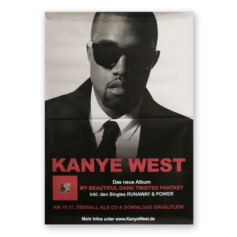 Kanye West - My Beautiful Dark Twisted Fantasy Poster