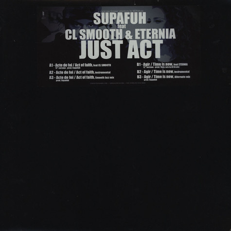 Supafuh - Just Act feat.CL Smooth & Eternia