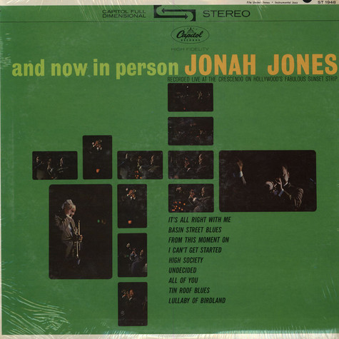 Jonah Jones - And Now In Person
