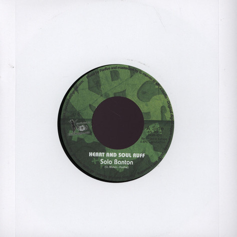Solo Banton / JR Culture - Heart And Soul Ruff / Baby Girl