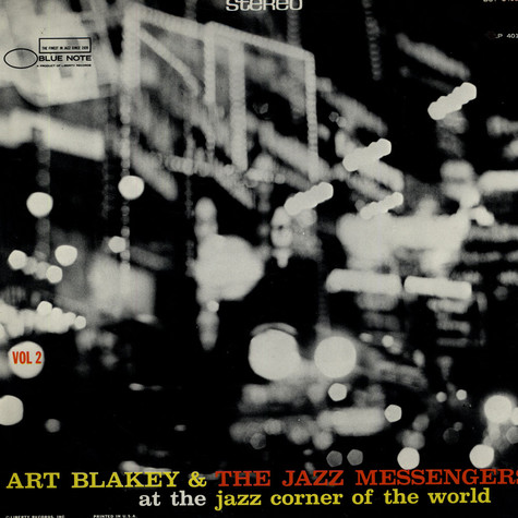 Art Blakey & The Jazz Messengers - At The Jazz Corner Of The World Vol. 2