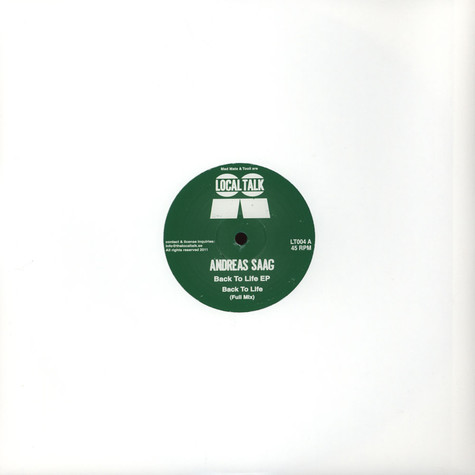 Andreas Saag - Back To Life EP