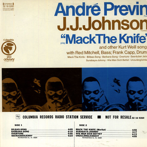 André Previn and J.J. Johnson - Mack The Knife