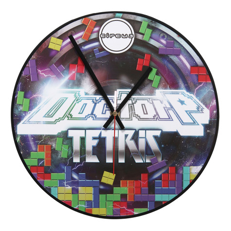 Doctor P / Circus Records - Tetris Vinyl Clock