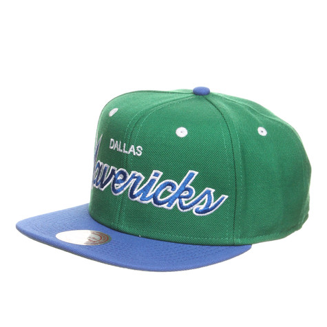 Mitchell & Ness - Dallas Mavericks NBA 2 Tone Script Snapback Cap