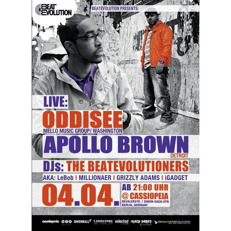 Oddisee & Apollo Brown - Konzertticket für Berlin, 04.04.2012 @ Cassiopeia