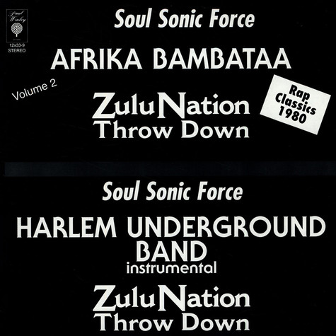 Bambaataa Zulu Nation Soul Sonic Forc - Zulu Nation Throw Down