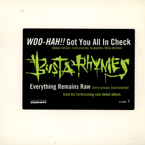 Busta Rhymes - Woo-Hah !!Got you all in check