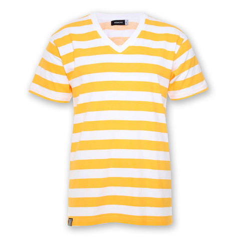 Wemoto - Stripes V-Neck T-Shirt