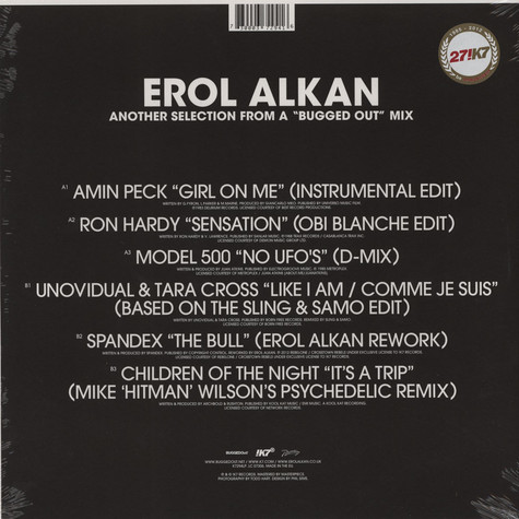 """Erol Alkan - Another """"Bugged Out"""" Mix & """"Bugged In"""" Selection"""