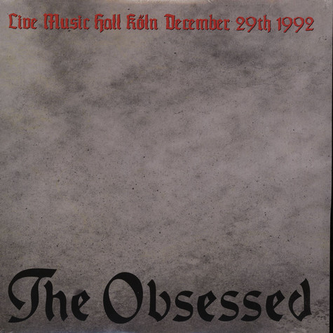 Obsessed, The - Live In Koln