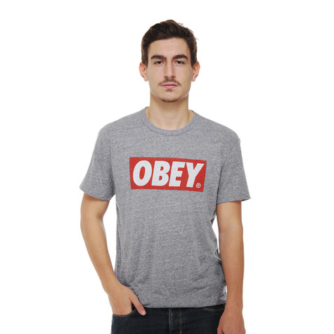 Obey - Bar Logo Triblend T-Shirt