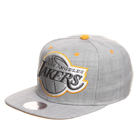 Mitchell & Ness - LA Lakers NBA Dark Grey Road XL Snapback Cap