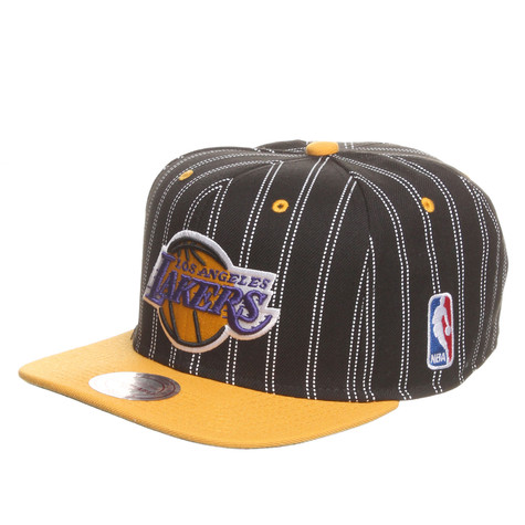 Mitchell & Ness - LA Lakers NBA Double Pinstripe Snapback Cap