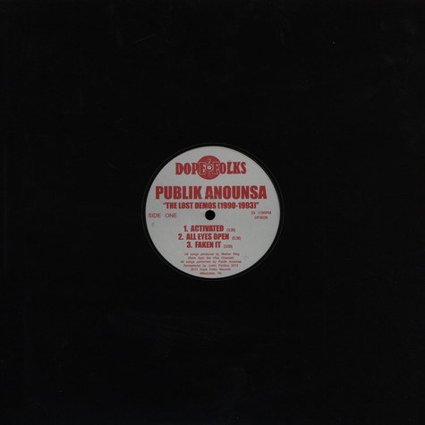 Publik Anounsa - The Lost Demos 1990 - 1993