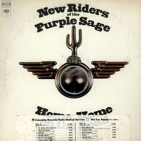 New Riders Of The Purple Sage - Home, Home On The Road