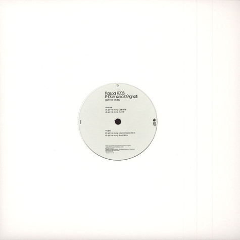 Pascal Feos & Domenic D'agnelli - Get Me Wrong