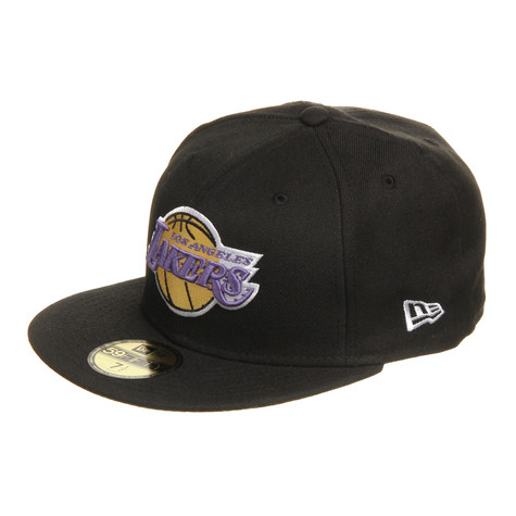 19628cfafb9 New Era - Los Angeles Lakers NBA Team Basic 2 59Fifty Cap (Black)