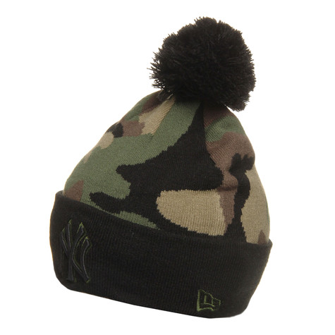 New Era - New York Yankees MLB Camo Top Beanie
