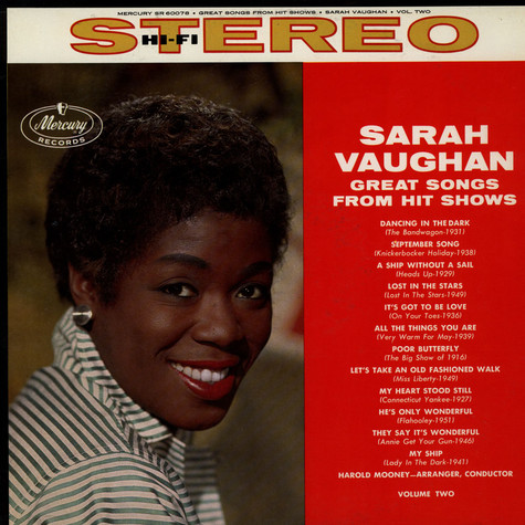 Sarah Vaughan - Great Songs From Hit Shows Vol. 2