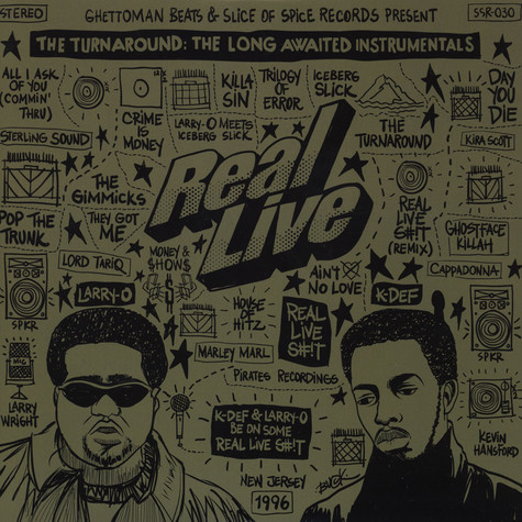 Real Live - The Long Awaited Instrumentals Black Vinyl Edition