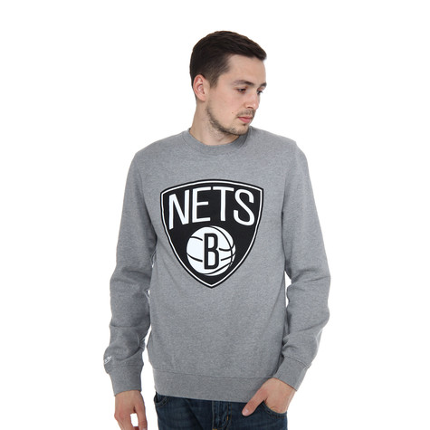 Mitchell & Ness - Brooklyn Nets NBA Team Logo Crew Sweater