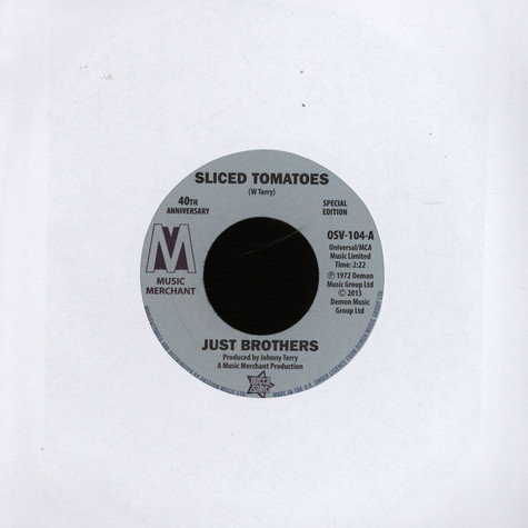 Just Brothers / Eloise Laws  - Sliced Tomatoes /  Love Factory