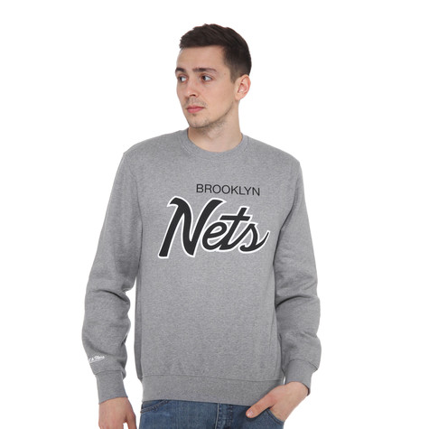 Mitchell & Ness - Brooklyn Nets NBA Script Crewneck Sweater