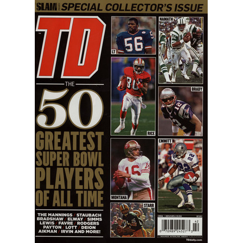 Slam Magazine presents - TD - 5o Greatest Superbowl Players Of All Time