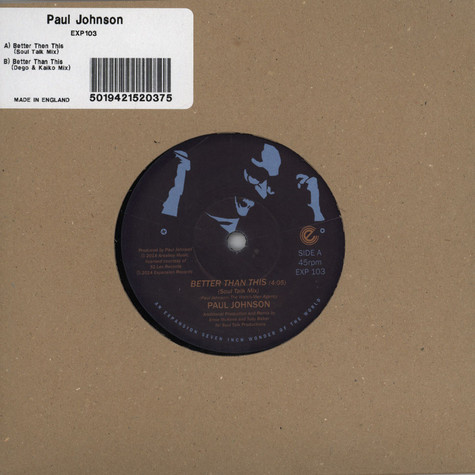 Paul Johnson - Better Than This