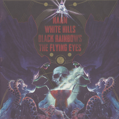 Naam / White Hills / Black Rainbows / The Flying Eyes - The 4 Bands Split Volume 1 Red Vinyl Edition
