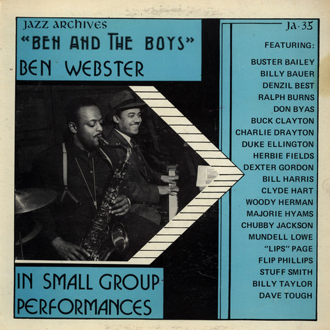 Ben Webster - Ben And The Boys