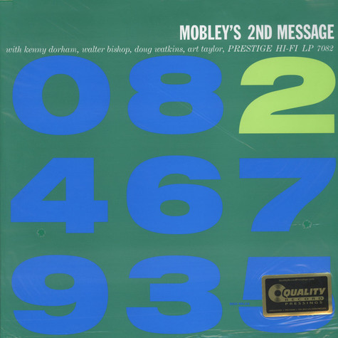 Hank Mobley - Mobley's 2nd Message 200g Vinyl Edition