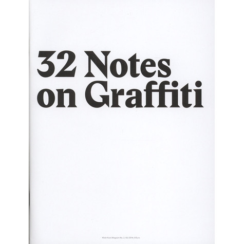 Klickklack - Volume 2 - 32 Notes On Graffiti