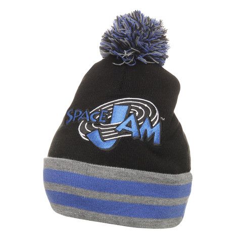 Starter x Space Jam - Space Jam 11 Bobble Knit Beanie (Black   Royal ... 9a71b7a57d