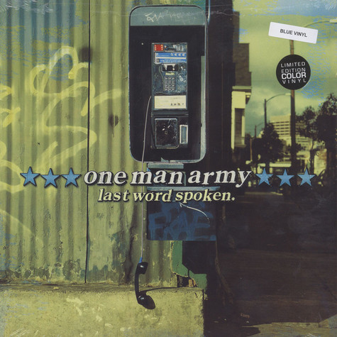 One Man Army - Last Word Spoken Blue Vinyl Edition