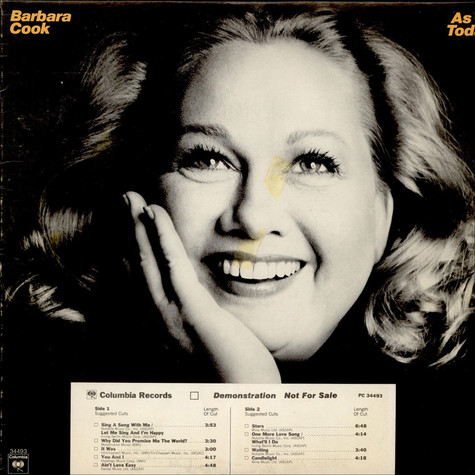 Barbara Cook - As Of Today