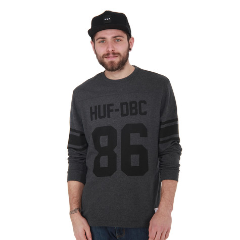 HUF - Wrecking Crew Football Jersey (Charcoal Heather)  a7b6eb816