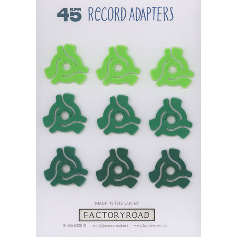 Factory Road - 45 RPM Adapters Glow In The Dark (Pack of 9)